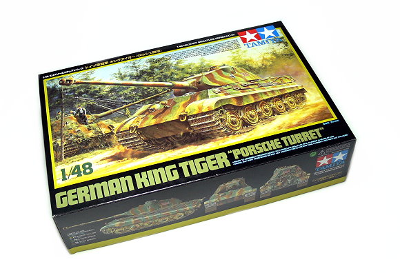 Tamiya Military Model 1/48 German King Tiger Porsche Turrest Scale Hobby 32539