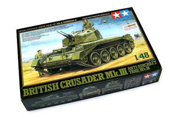 Tamiya Military Model 1/48 British Crusader Anti-Aircraft Tank Mk. III 32546