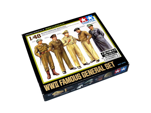 Tamiya Military Model 1/48 WII Famous General Set Scale Hobby 32557