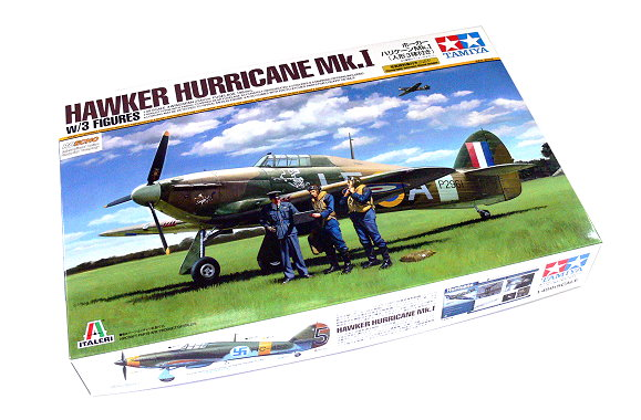 Tamiya Aircraft Model 1/48 Airplane Hawker Hurricane Mk.I with 3 Figures 37011