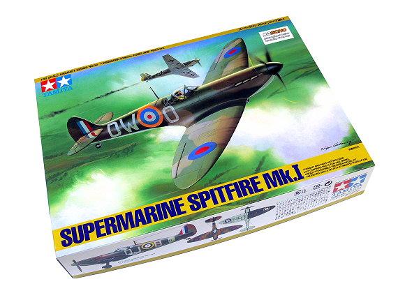 Tamiya Aircraft Model 1/48 Airplane Supermarine Spitfire Mk.I Scale Hobby 61032