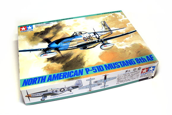 Tamiya Aircraft Model 1/48 Airplane NORTH AMERICAN P-51D Mustang 8th AF 61040