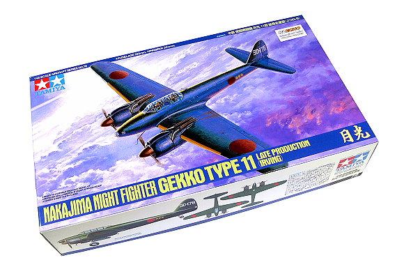 Tamiya Aircraft Model 1/48 Airplane NAAJIMA NIGHT FIGTER GEKKO Type 11 61078