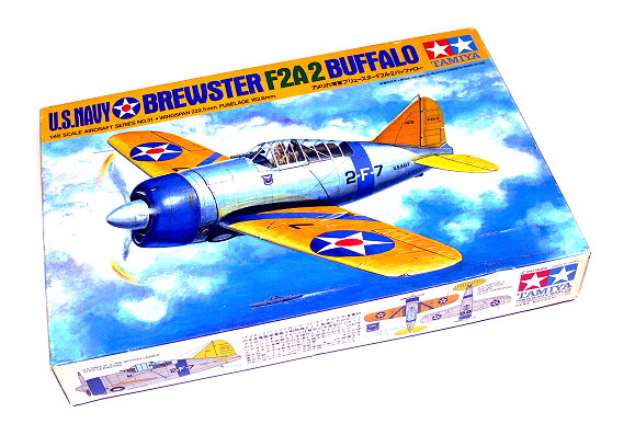 Tamiya Aircraft Model 1/72 Airplane U.S.Navy Brewster F2A-2 Buffalo 61031