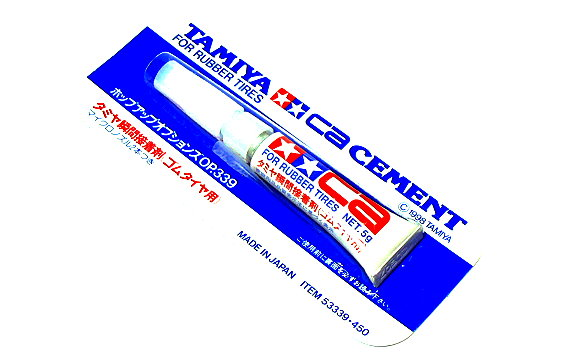 Tamiya Model Paint & Finishes CA Cement for Rubber Tires 53339