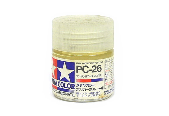 Tamiya Color PC-26 Fuel Protective Top Coat Net 23ml for Polycarbonate 82026