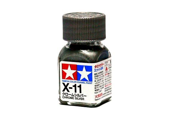 Tamiya Model Color Enamel Paint X-11 Chrome Silver Net 10ml 80011
