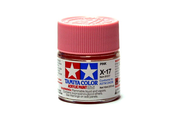 Tamiya Model Color Acrylic Paint X-17 Pink Net 10ml 81517