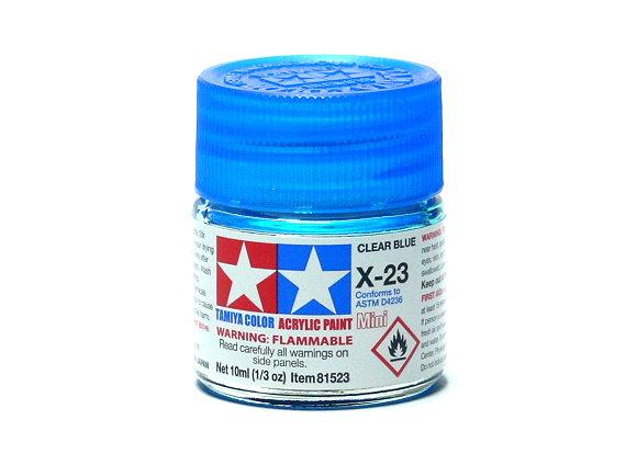 Tamiya Model Color Acrylic Paint X-23 Clear Blue Net 10ml 81523