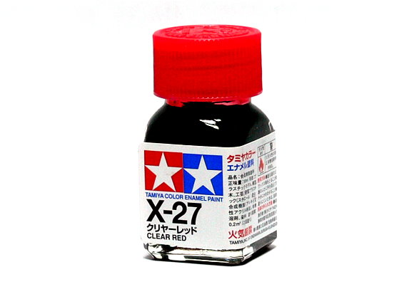 Tamiya Model Color Enamel Paint X-27 Clear Red Net 10ml 80027
