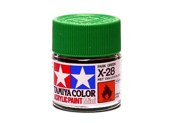 Tamiya Model Color Acrylic Paint X-28 Park Green Net 10ml 81528