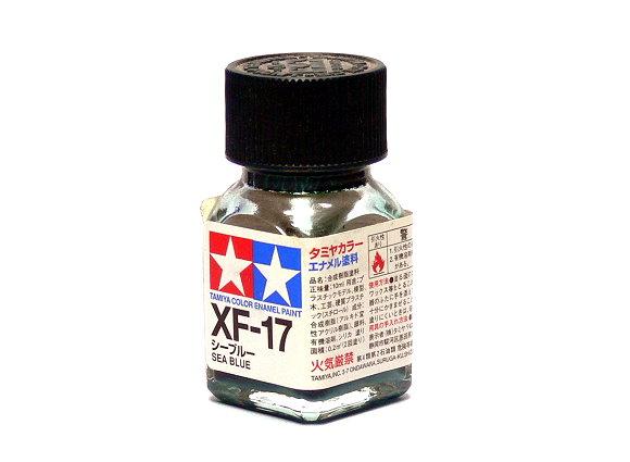 Tamiya Model Color Enamel Paint XF-17 Sea Blue Net 10ml 80317