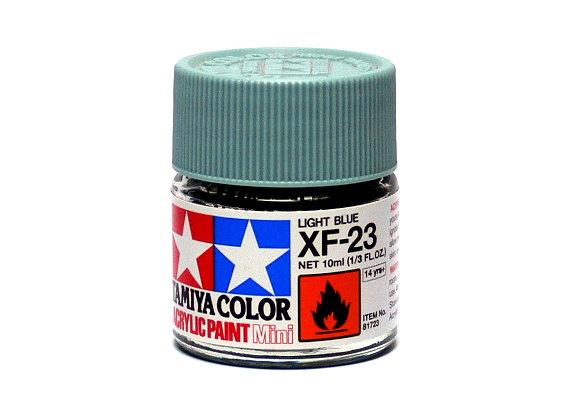 Tamiya Model Color Acrylic Paint XF-23 Light Blue Net 10ml 81723