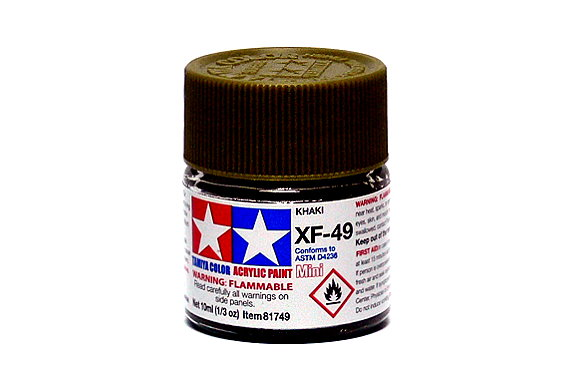 Tamiya Model Color Acrylic Paint XF-49 Khaki Net 10ml 81749