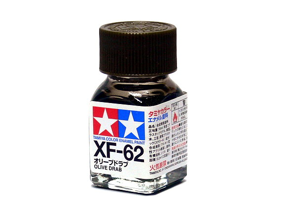 Tamiya Model Color Enamel Paint XF-62 Olive Drab Net 10ml 80362