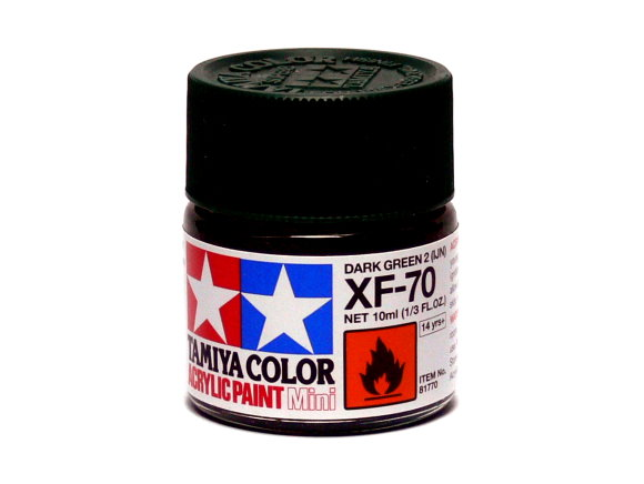 Tamiya Model Color Acrylic Paint XF-70 Dark Green 2 (IJN) Net 10ml 81770