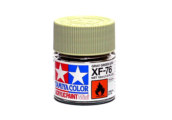 Tamiya Model Color Acrylic Paint XF-76 Gray Green (IJN) Net 10ml 81776