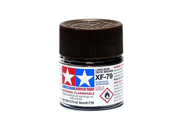 Tamiya Model Color Acrylic Paint XF-79 Linoleum Deck Brown Net 10ml 81779