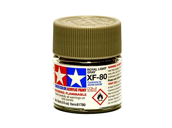 Tamiya Model Color Acrylic Paint XF-80 Royal Light Gray Net 10ml 81780