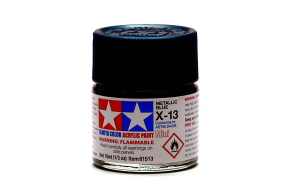 Tamiya Model Color Acrylic Paint X-13 Metallic Blue Net 10ml 81513