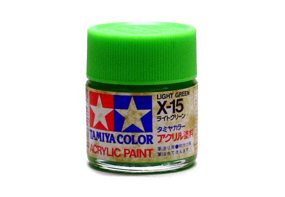 Tamiya Model Color Acrylic Paint X-15 Light Green Net 23ml 81015