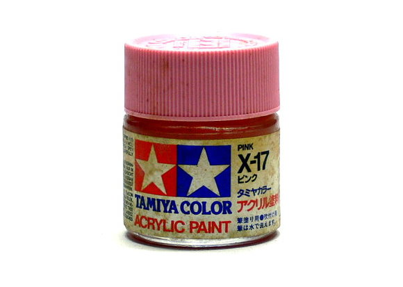 Tamiya Model Color Acrylic Paint X-17 Pink Net 23ml 81017