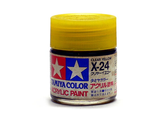 Tamiya Model Color Acrylic Paint X-24 Clear Yellow Net 23ml 81024