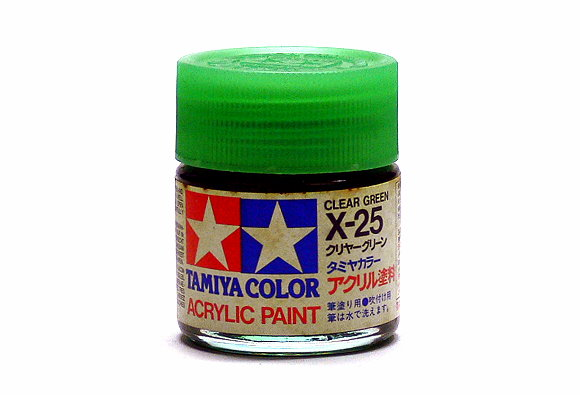 Tamiya Model Color Acrylic Paint X-25 Clear Green Net 23ml 81025