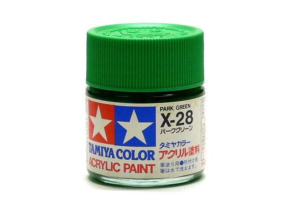 Tamiya Model Color Acrylic Paint X-28 Park Green Net 23ml 81028