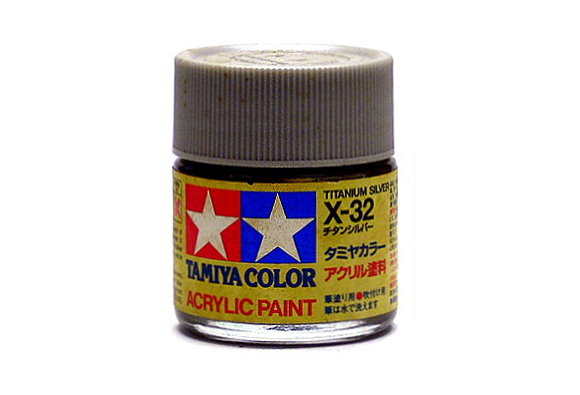 Tamiya Model Color Acrylic Paint X-32 Titanium Silver Net 23ml 81032