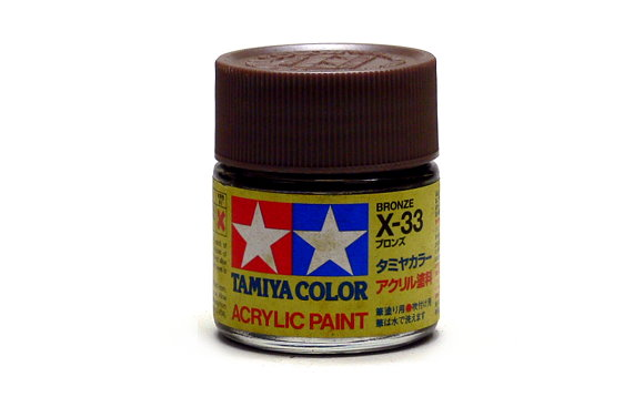 Tamiya Model Color Acrylic Paint X-33 Bronze Net 23ml 81033