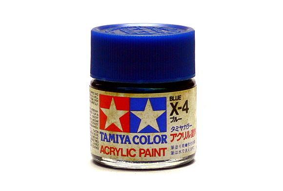 Tamiya Model Color Acrylic Paint X-4 Blue Net 23ml 81004