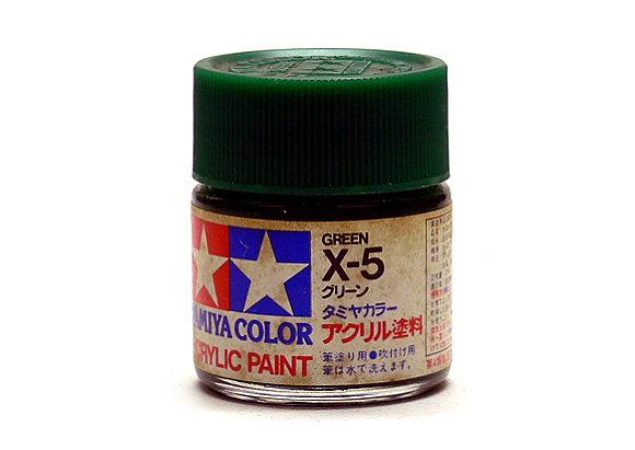 Tamiya Model Color Acrylic Paint X-5 Green Net 23ml 81005