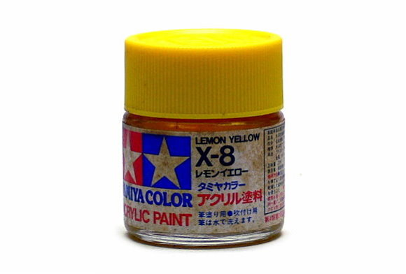 Tamiya Model Color Acrylic Paint X-8 Yellow Net 23ml 81008