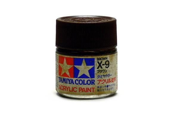 Tamiya Model Color Acrylic Paint X-9 Brown Net 23ml 81009