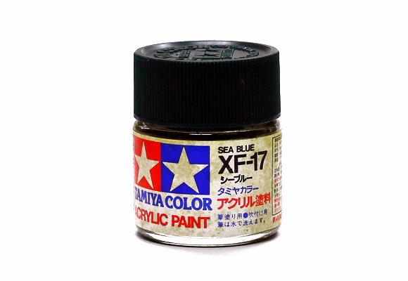Tamiya Model Color Acrylic Paint XF-17 Sea Blue Net 23ml 81317