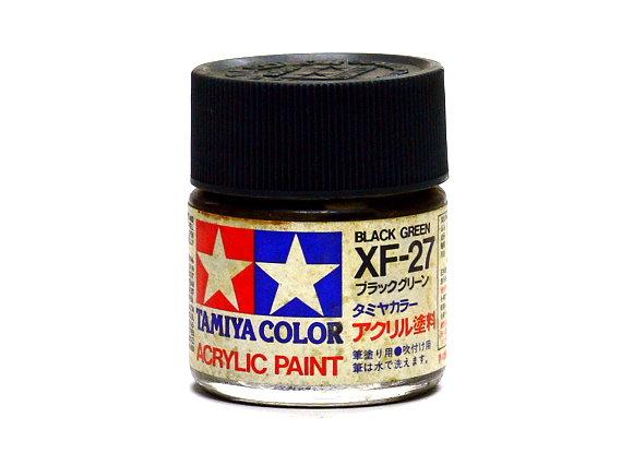 Tamiya Model Color Acrylic Paint XF-27 Black Green Net 23ml 81327