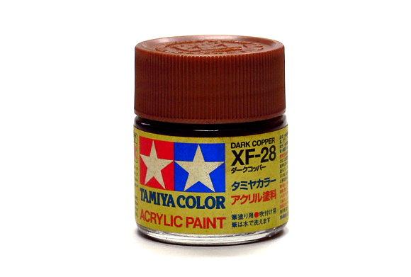 Tamiya Model Color Acrylic Paint XF-28 Dark Copper Net 23ml 81328
