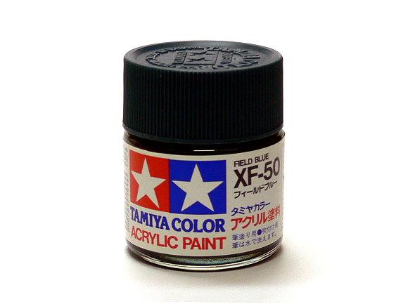 Tamiya Model Color Acrylic Paint XF-50 Field Blue Net 23ml 81350