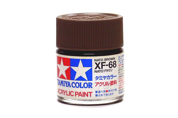 Tamiya Model Color Acrylic Paint XF-68 Nato Brown Net 23ml 81368
