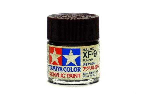 Tamiya Model Color Acrylic Paint XF-9 Hull Red Net 23ml 81309