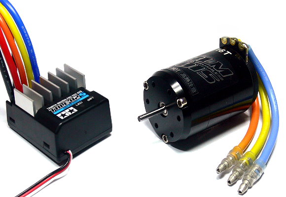 Tamiya RC Model Brushless Motor 01 16T & Brushless ESC 02 Set (Sensored) 45058