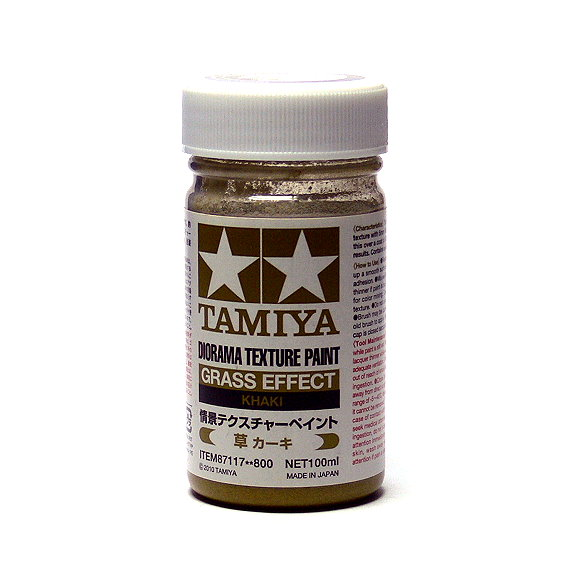Tamiya Model Paints & Finishes Diorama Texture Paint Grass Effect Khaki 87117