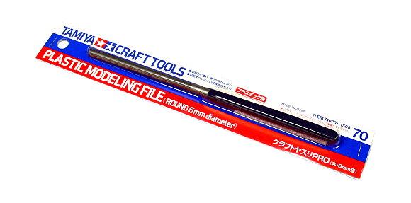 Tamiya Model Craft Tools Plastic Modeling File (Round 6mm diameter) 74070