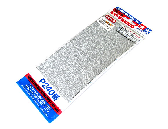 Tamiya Model Craft Tools Finishing Abrasives P240 (3pcs) 87093