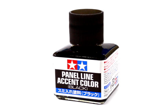 Tamiya Model Paints & Finishes Panel Line Accent Color Black 40ml 87131