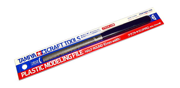 Tamiya Model Craft Tools Plastic Modeling File (Half-Round 10mm width) 74063