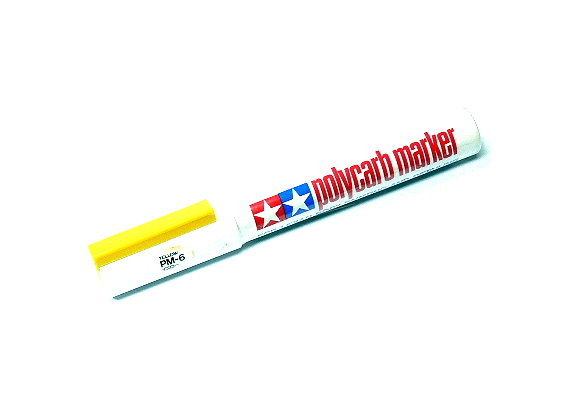 Tamiya Polycarb Marker PM-6 Yellow for Lexan Body Painting & Detailing 88006
