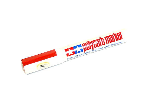 Tamiya Polycarb Marker PM-7 Orange for Lexan Body Painting & Detailing 88007