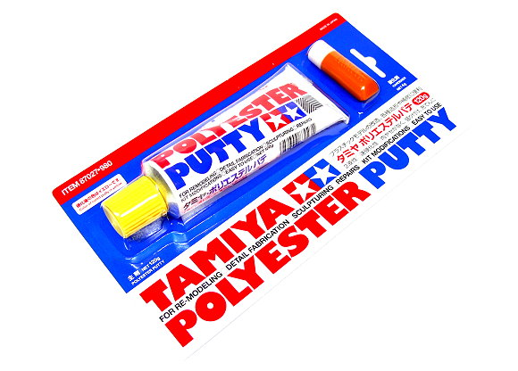 Tamiya Model Paints & Finishes Polyester Putty and Hardener 87027
